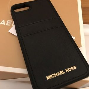 Michael Kors Accessories - MICHAEL KORS Saffiano Leather Phone Case IPhone7/8